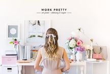 Girly Office / Office space inspiration and decor