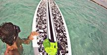 SUP the blue Caribbean / SUP Reef & Ceviche Tour. Paddleboard on a beautiful bay with natural surroundings and coral reefs.