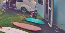Surf vehicles. Get a ride! / A good surf vehicle should be dependable, spacious and can take you into the wild for a few weeks. Love them all !