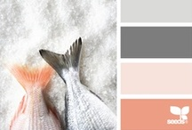Color combos & material boards / color combinations in interior design