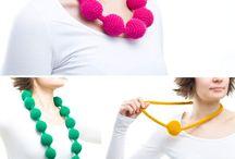 Necklaces, Earrings ... / Crochet Jewellery