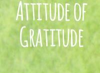 Attitude of Gratitude / It's easier to stay buoyant with an attitude of gratitude.  #itsapractise