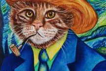 Animal Art + Pet Portraits / Personalised Animal Art  #catart #dogart #custom #memorial #remember #bestfriend