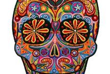 Calaveras, La Catrina, and other items of that aesthetic / Skellies and such