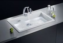 EcoGranit Sinks / All sinks in the EcoGranit range are engineered from 85% quartz, making the material three times harder than natural granite.