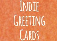 Indie Greeting Cards / Save the world from insipid illustrations and generic greetings! Choose an indie greeting card as vibrant and distinctive as your loved ones!   My Tangerine Meg bold art greeting cards are bewitchingly blank inside, suitable for any occasion. These also come with a guarantee – to bring a smile to the lips of any lucky recipient :)