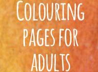 Coloring Pages for Adults / Do you love and adore colouring in?  I know how much colour lights up my life – seeing it, painting it, wearing it – and I think you might be a kindred spirit.  Have you noticed when you're focussed on coloring a pattern or drawing, it's kind of meditative, and you feel more centered?  These are some great Coloring Pages - or Colouring *Books* - for Adults for *you* to color, that I've found or made.   Chill out and colour :D #happytimes