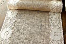 Burlap Beauty! / Did you ever think burlap would be so popular?  LOVE it...so many ideas!