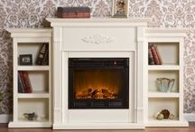 Fireplaces and mantels / Places to go when looking to add style to your boring fireplace.