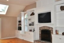 Entertainment Centers / Built in entertainment centers bring your collections together and hide your multimedia controllers. Why not add architectural interest while gaining amazing amounts of storage?  / by Greene Construction