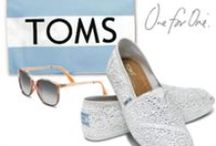 TOMS! / With every pair of shoes you purchase, TOMS will give a new pair of shoes to a child in need!  With every eyewear purchase, TOMS will give sight to a person in need!