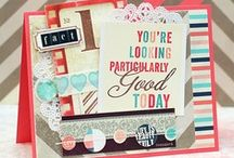 Cards / inspiration for scrapping cards and tags / by Alice Scraps Wonderland
