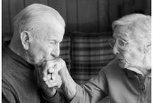 """Photography ~ Old Love...True Love. / """"The Most Romantic Story Isn't Romeo And Juliet Who Dies Together. But Grandma And  Grandpa Who Grew Old Together."""" ~ Unknown  The stories...the love that was shared.  Old love that still grows."""