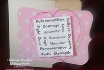 Awareness Ribbon Sets 1 & 2  - A Creative Journey with Melissa / Come visit my new website and check out my new stamp line!!  You can win prizes AND get some ideas on how versatile my stamps are! Please share with your friends and PIN PIN PIN :) TY!!