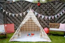 Tents and Teepees for fun!