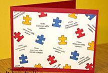 Awareness Ribbon Set #4 Stamp Set - Autism Awareness