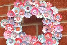 Stampin' Up! Wreaths / Get creative and decorate your door or home with wreaths for different seasons and holidays.