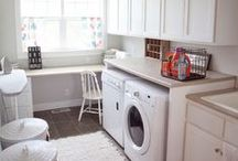 Insane Obsession with Laundry Rooms / Oh how I wish I had a laundry room/closet. But no, I have to do laundry in my scary dark wet basement. :(