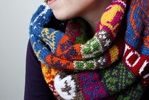 knit scarfs cowls shawls wraps / by Mary Harting