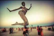 Burn Baby Burn / Burning Man is an annual art event and temporary community based on radical self expression and self-reliance in the Black Rock Desert of Nevada. #BurningMan
