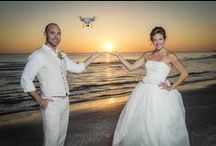 Weddings By Drone / Drones have revolutionized how we shoot weddings.  Aerial Photography and add a whole new creativity to your wedding video and photography, provided you have a drone photographer who knows how to use it correctly.