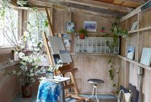 Art Studio / My dream is to have one day my very own art studio and time to paint..