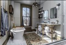Spa-Worthy Bathrooms / From master baths furnished with fireplaces & televisions to half baths with killer wall paper, this board is sure to pinspire!