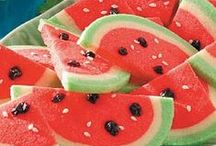 "Watermelon / Treats, recipes, crafts - whatever catches my eye with a ""watermelon"" theme.  Recipes are not necessarily ""watermelon"" flavored - they can just be watermelon ""shaped""."