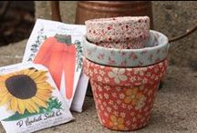 """Fabric Projects - """"No Sew"""" / Miscellaneous fabric crafts.  To collect fabric projects which have no sewing at all to some minimal sewing needed. / by Nancy Thomas"""