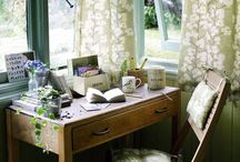 BOHO OFFICE STUDIO SPACES / Bohemian pretty office workspaces for designers creatives and shed dwellers