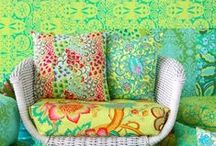 SUMMER HOME & FASHION STYLE / Summer bright colours in home and fashion.