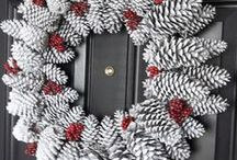 "Wreaths, Garlands/Banners All Year 'Round / Wreath & Garland/Banner: tutorials & picture inspiration.  For Christmas & anytime of year.  ***In order to better manage over 1,000 Christmas ""pins"", there are now 8 different Christmas themed boards (including at least 3 Christmas/Winter themed food/recipe boards) plus a ""Wreath"" board for wreaths for any season. / by Nancy Thomas"