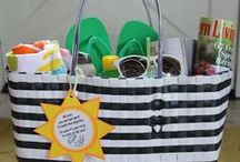 A Basket Full of Goodies / Quite simply, gifts in a basket / by Suzanne Donnelly