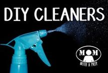 DIY | Cleaners / Creating your own cleaners can make for a healthier home. Cleaners don't have to cost a ton, don't have to contain harmful chemicals, and can be green without going to a store. Brought to you by MomwithaPREP.com.  / by Jane @ Mom with a PREP