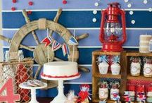 Nautical themed birthday party, shower, or everyday summertime party / Nautical themed birthday party, shower, or everyday summertime party