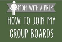 How to Join My Group Boards / Would you love to join with a community of like-minded individuals who want to prepare their families for life's emergencies, become more self-reliant, begin living a homestead-minded life, and learn new skills? Each of the boards listed are a group board where you can drop a line to join the group. Please follow Mom with a PREP,  then leave a message on the individual board you are interested in joining! Please respect board rules. Thanks! / by Jane @ Mom with a PREP