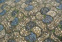 Mosaic / I have a large concrete front porch and many areas for steps and paths in my gardens. I think mosaic would be amazing.  / by Raven Bren