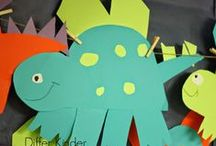 Dinosaurs / Dinosaur learning ideas with great ideas and activities for teaching with a dinosaur theme. Dinosaur crafts, science, and dinosaur printables for your classroom.