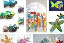 Ocean Learning Themes / Ocean themed crafts, sensory activities, experiments, and printables to help learn about ocean animals and habitats in the classroom!