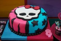 Monster High birthday party. We're not so crazy about it, but the girls love it and are requesting a Monster High themed skating party next year. / by Amber Hayes