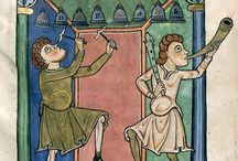 A Day in the Medieval Life / People working and playing, doing everyday sorts of things in medieval manuscripts / by Hana