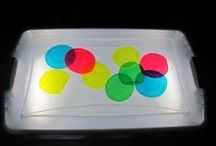 Light Table Ideas / Enjoy learning with a light table. Great fine motor, open ended play ideas, and manipulatives for a light table.