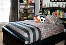 Boys Bedroom / Decorate your boys bedroom with these boy centered ideas. Sports themed bedroom ideas and boy decor perfect for your son or grandson.