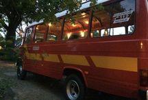 """Mercedes benz O309D camper DIY RV solar zelfbouw. /  Ik ben sinds september 2013 bezig een oude duitse brandweerbus (1977 mercedes benz O309d) te verbouwen tot een kampeerbus.  Ik heb veel hulp gehad met name van mijn busvriend Mark. Hij is een kei en weet mijn perfectionisme feilloos te beteugelen.  Intussen is het mei 2014 en is de bus half klaar.  De keuken is bijna af, het chassis dichtmaken en isoleren is klaar.  Stroomvoorziening is klaar.  Passagiers kunnen zitten. Met gordels.  Verder is eigenlijk alles nog """"under construction""""."""