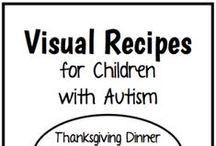 Visual Recipes for Children with Autism / Cooking is a great way to work on communication skills, following directions, fine motor abilities, and sequencing! Visual Recipes help your children or students understand the steps in a recipe and can lead to independence!