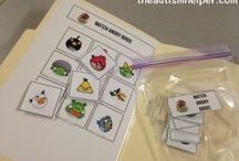 Work Tasks for Children with Autism {FILE FOLDERS} / File Folder Activities are great because they are structured, hands-on, and space efficient! You can work on a wide range of skills with file folder activities! Check out our velcro work tasks!