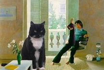 George the Cat in Famous Paintings