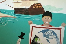 Jude / My 6 year old son wanted a room with pirate murals.  Now he is 9 and wants a transformers city scape mural. / by Laura Walker