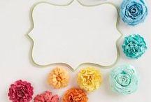DIY fleurs en papier et tissu / Plein de tutos pour créer soit même de belles fleurs en papier ou en tissu