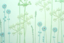 Glass Wall Art / Botanical glass splash backs and shadow frames: designed & printed by hand with individual hand cut stamps                                                                                                                                © copyright 2000-2017 Josephine Gomersall all rights reserved